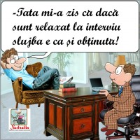 Relaxat la interviu