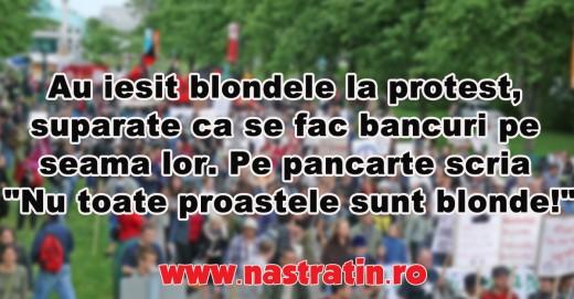 Blondele au iesit in strada