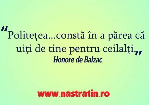 Politetea lui Balzac