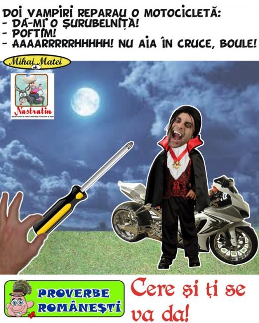 S-a stricat motocicleta vampirilor