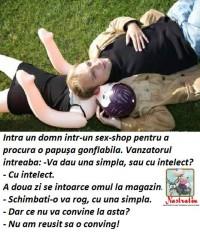 GONFLABILA CU INTELECT!
