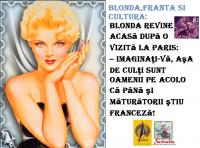 BLONDA, FRANTA SI CULTURA