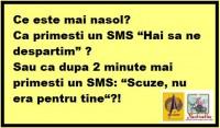UN SMS CU SCUZE