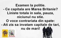 Examen la Politie
